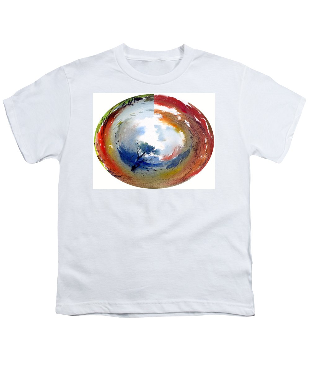Landscape Water Color Watercolor Digital Mixed Media Youth T-Shirt featuring the painting Universe by Anil Nene