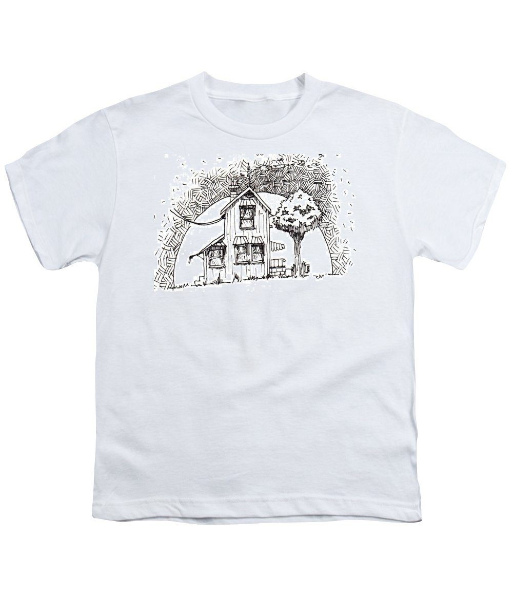 House Youth T-Shirt featuring the drawing Untitled by Tobey Anderson