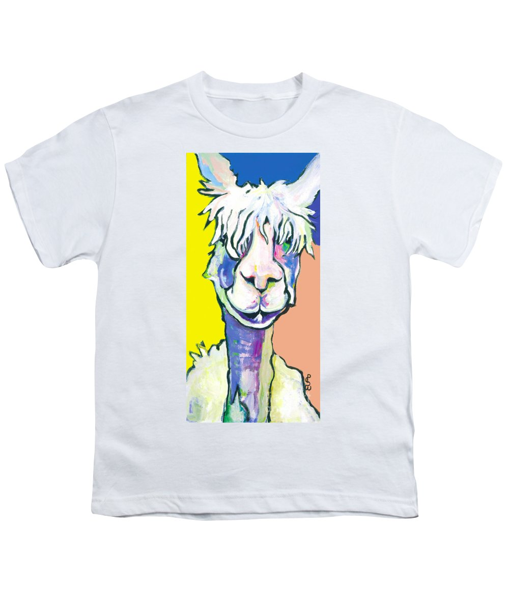 Mountain Animal Youth T-Shirt featuring the painting Veronica by Pat Saunders-White