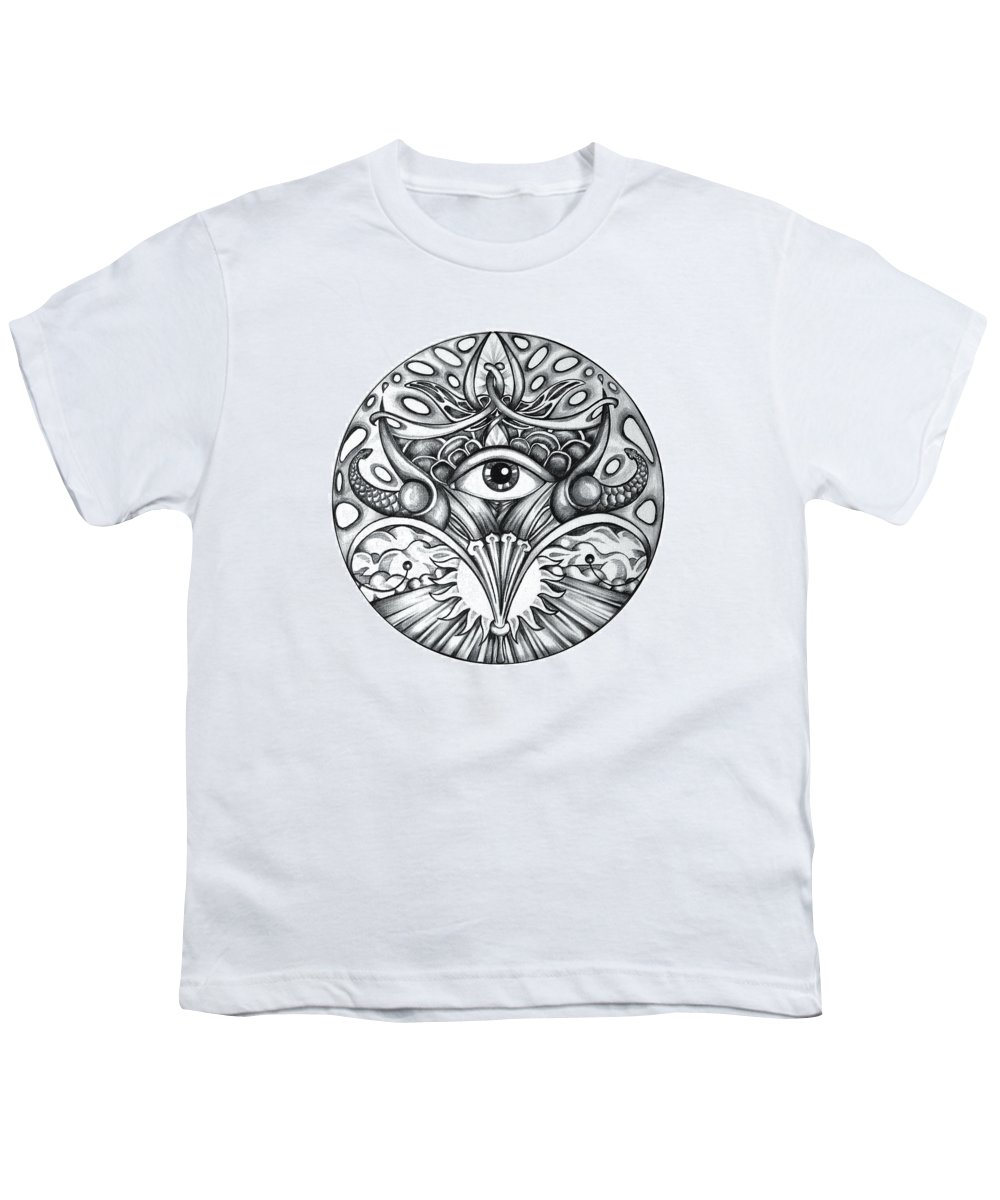 Eye Youth T-Shirt featuring the drawing Vision by Shadia Derbyshire