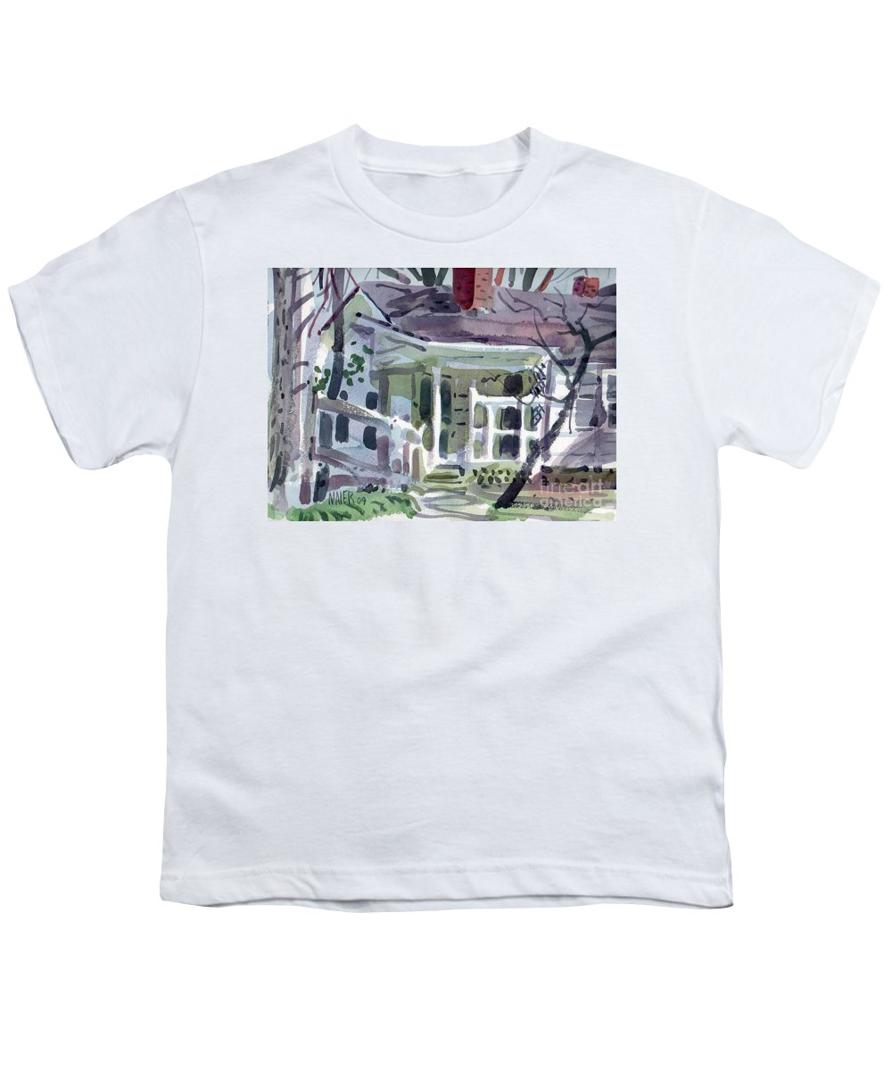 Wallis House Youth T-Shirt featuring the painting Wallis House by Donald Maier