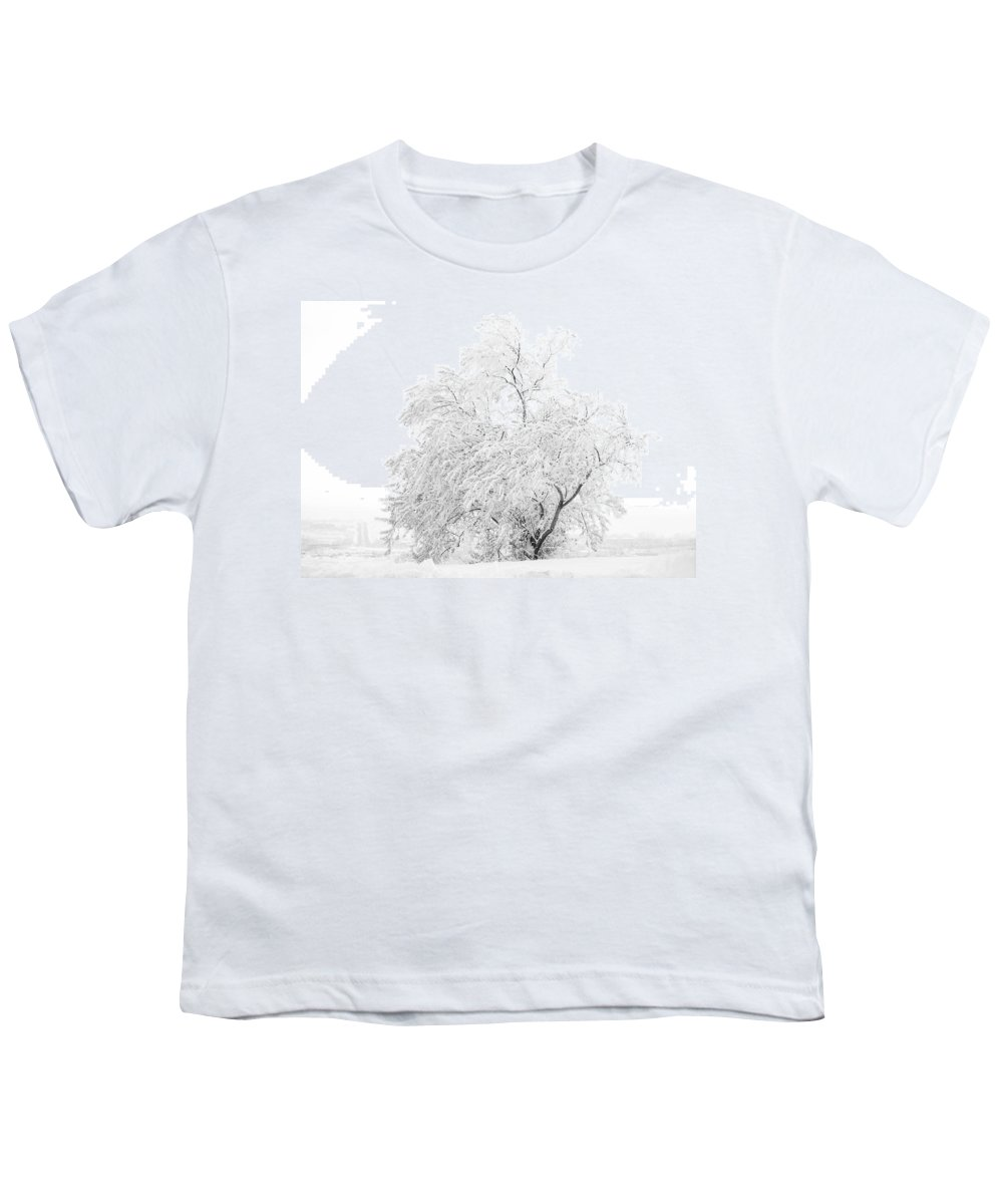 Snow Youth T-Shirt featuring the photograph White On White by Marilyn Hunt