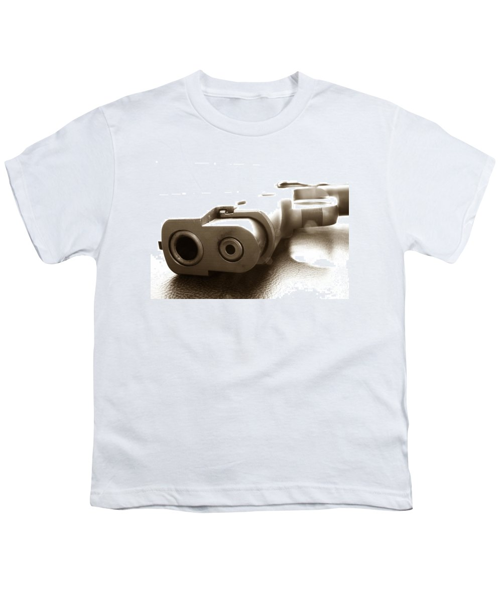 Gun Youth T-Shirt featuring the photograph Why by Amanda Barcon