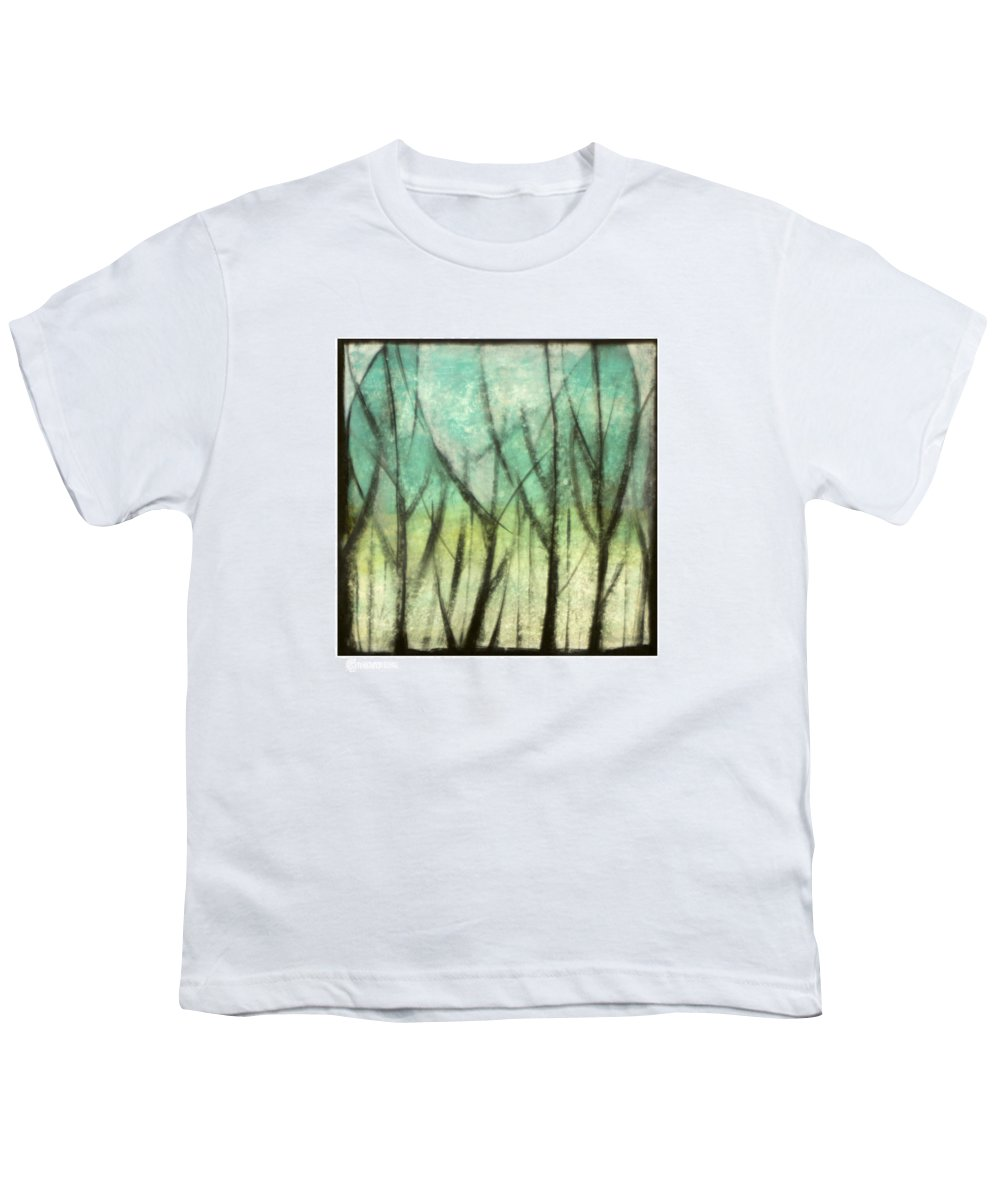 Trees Youth T-Shirt featuring the painting Winter Into Spring by Tim Nyberg