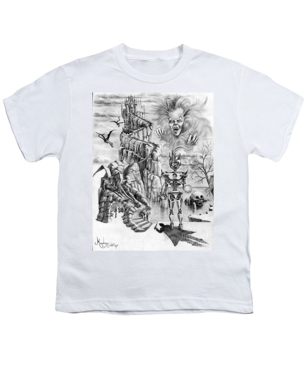 Witch Youth T-Shirt featuring the drawing Witch Hunter by Murphy Elliott