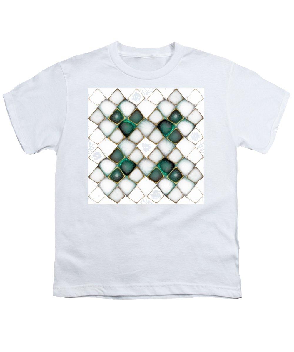 Digital Art Youth T-Shirt featuring the digital art X Marks The Spot by Amanda Moore