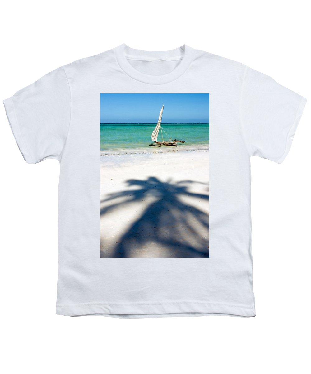 3scape Youth T-Shirt featuring the photograph Zanzibar Beach by Adam Romanowicz