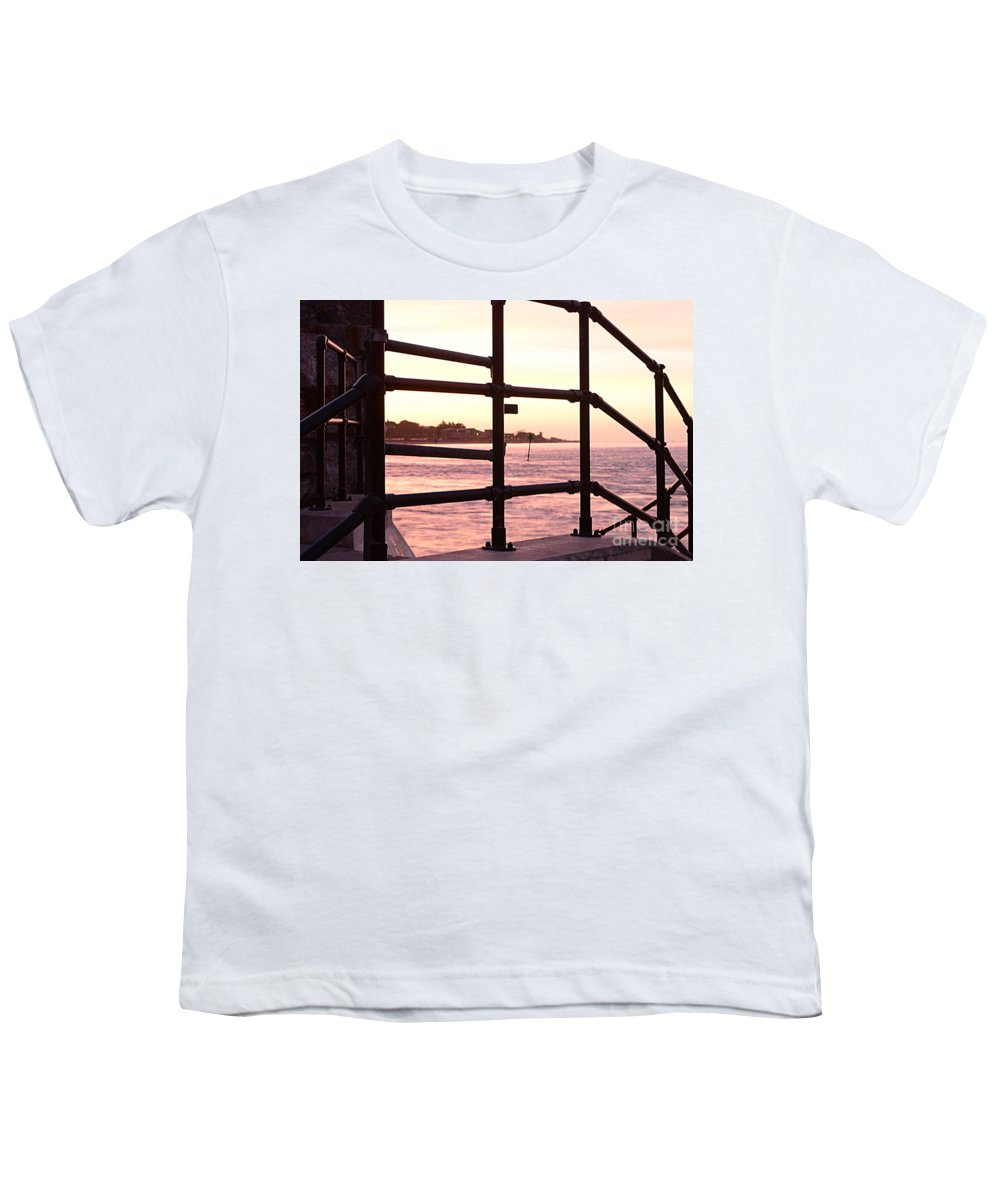 Railings Youth T-Shirt featuring the photograph Early Morning Railings by Andy Thompson