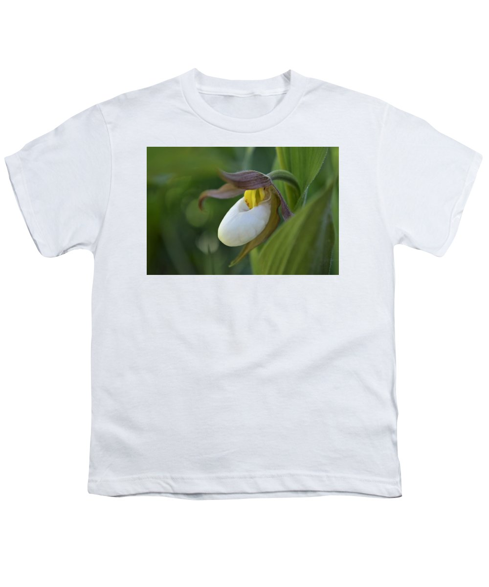 Flowers Youth T-Shirt featuring the photograph Lady's Slipper by Norman Burnham