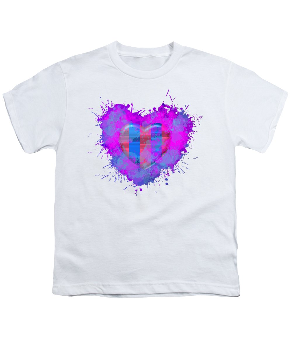 Barsa Youth T-Shirt featuring the digital art Love Barcelona by Alberto RuiZ