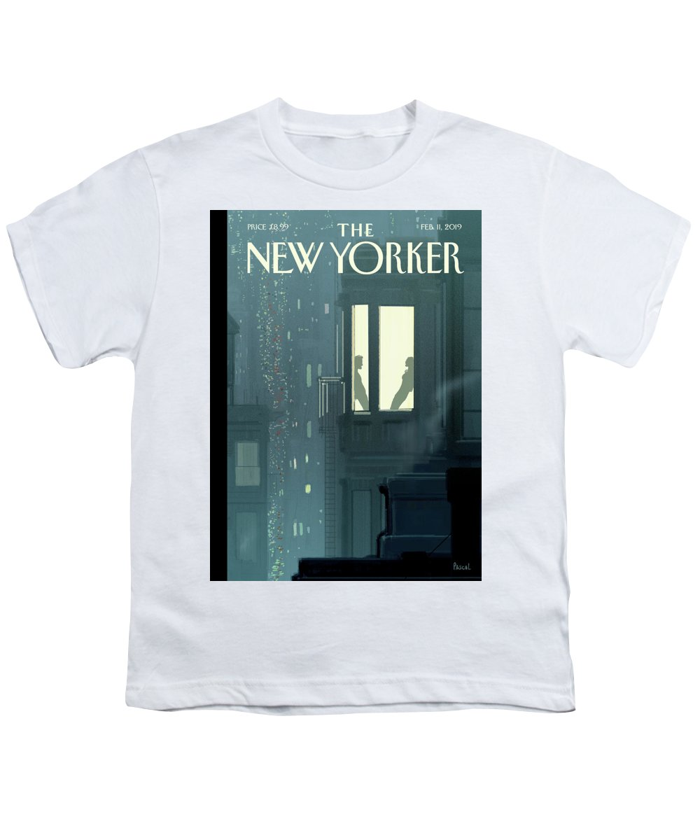 Love Interest Youth T-Shirt featuring the painting Love Interest by Pascal Campion