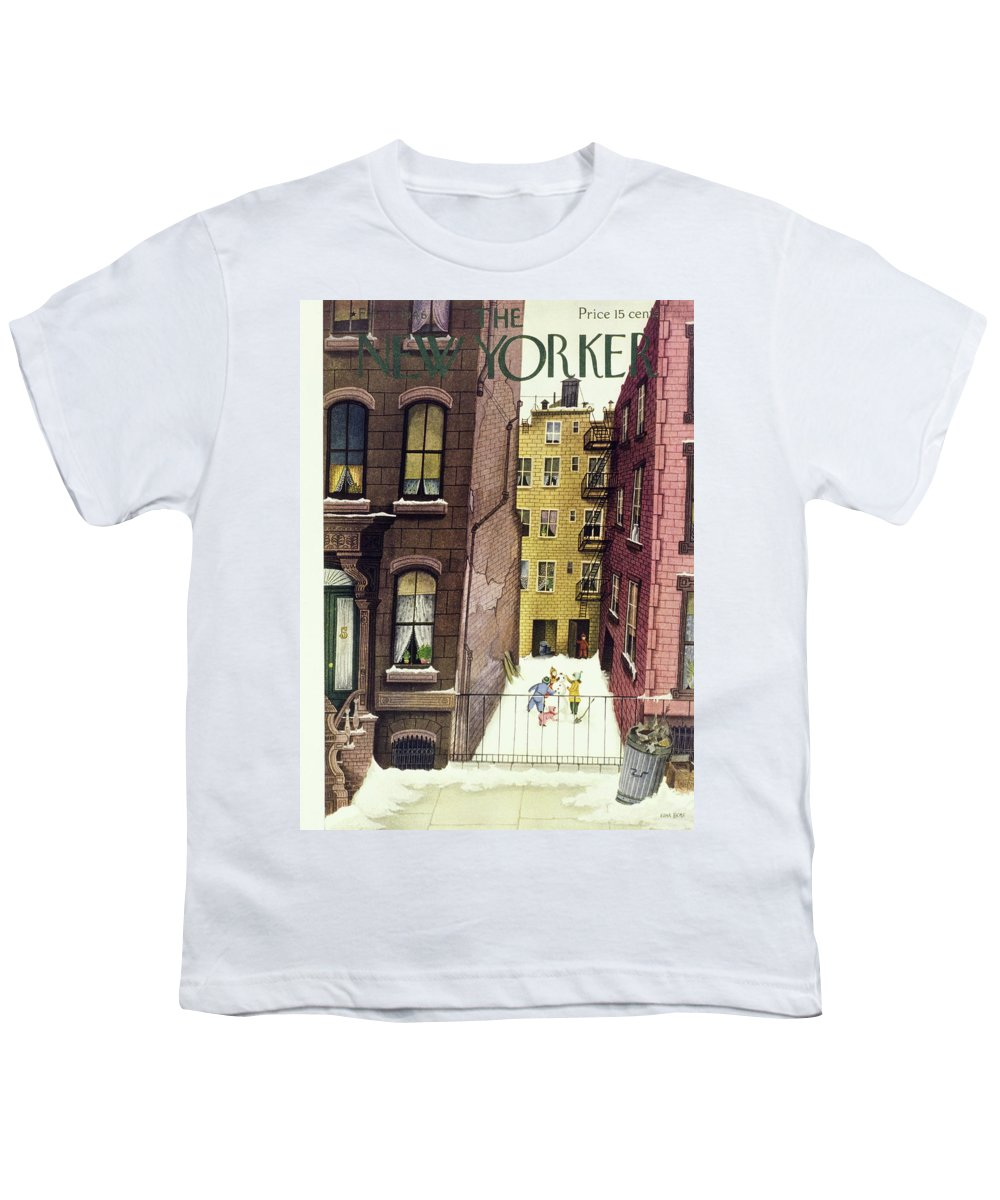 Illustration Youth T-Shirt featuring the painting New Yorker February 2, 1946 by Edna Eicke