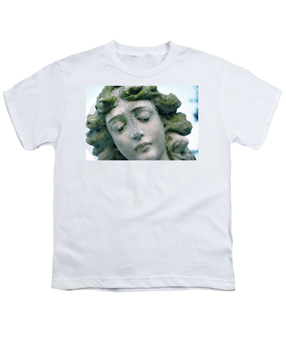 Angel Youth T-Shirt featuring the photograph Sad Angel by Michael Ziegler