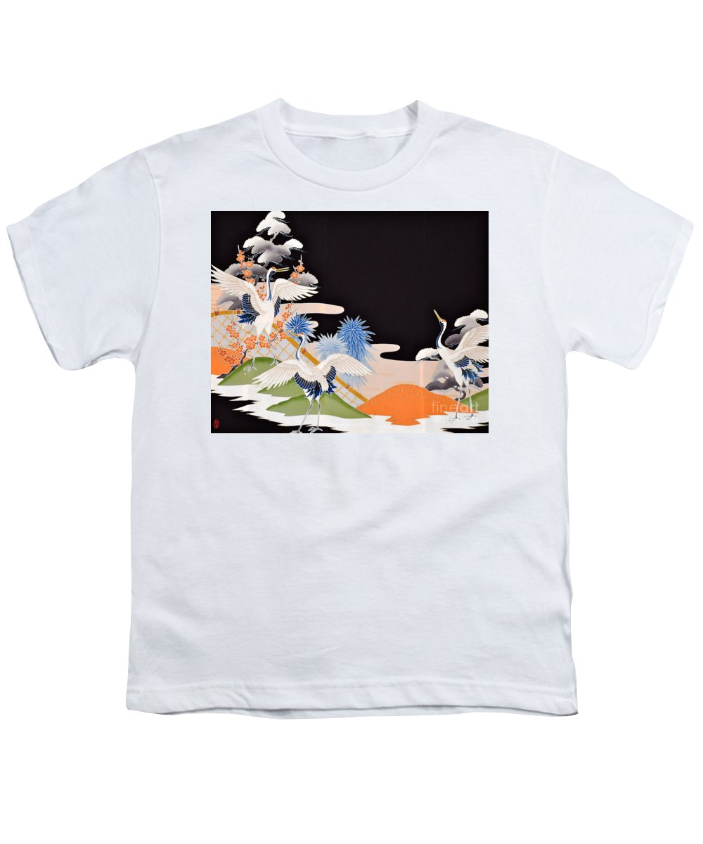 Youth T-Shirt featuring the digital art Spirit of Japan T7 by Miho Kanamori