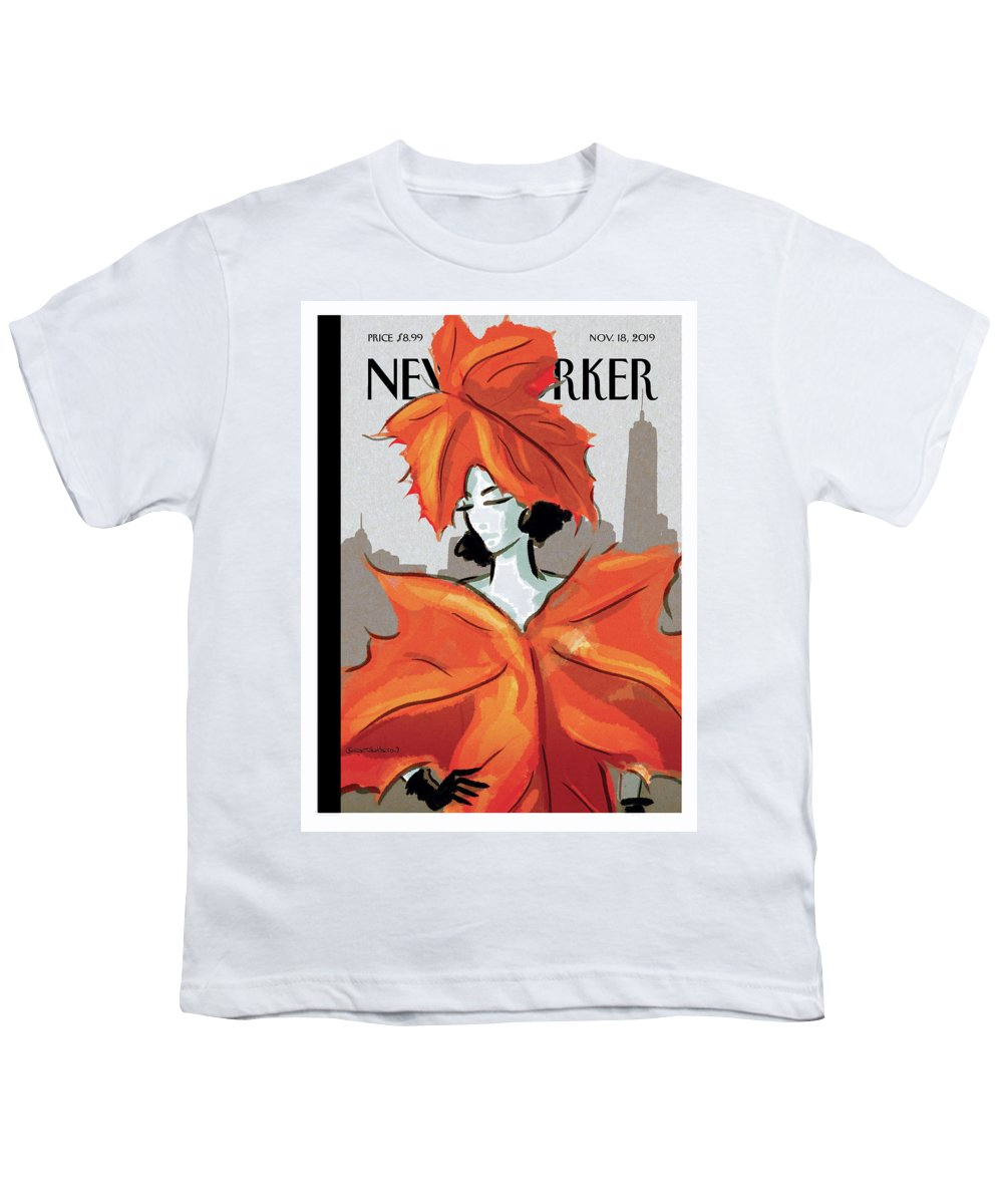 Dressing For Fall Youth T-Shirt featuring the painting Dressing For Fall by Birgit Schoessow