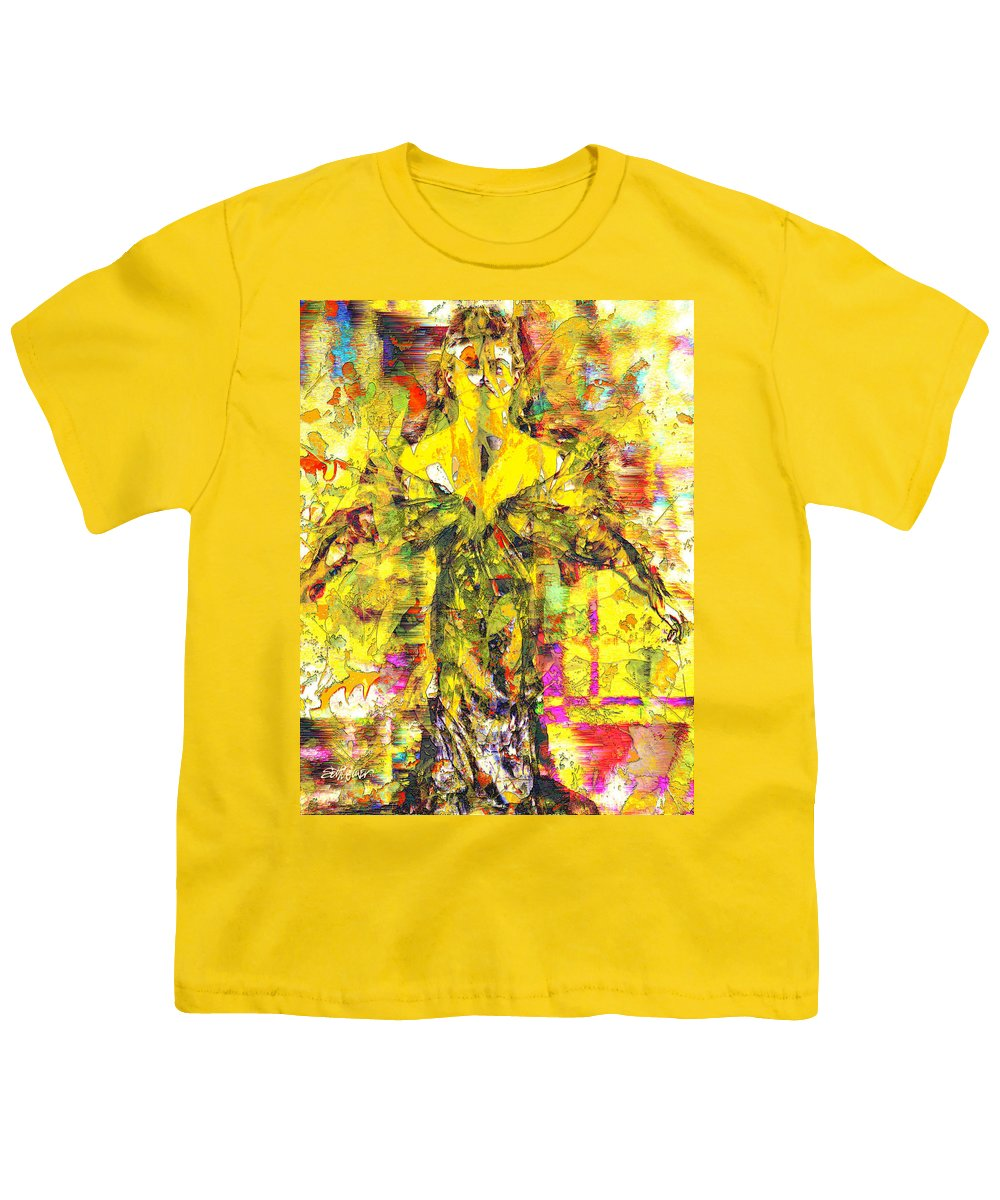 Embrace Of Fall Youth T-Shirt featuring the digital art Embrace of Fall by Seth Weaver