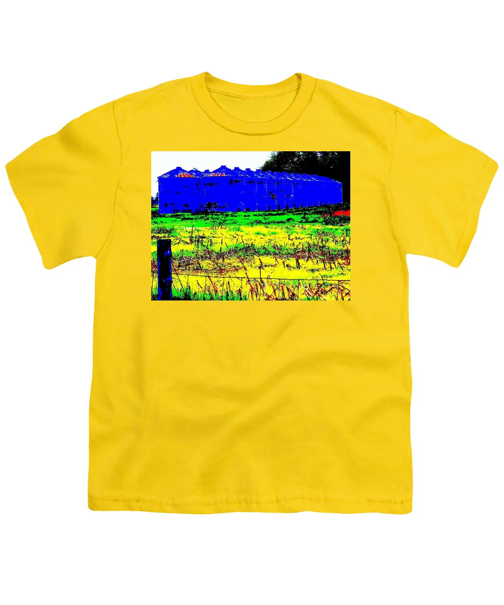 Landscape Youth T-Shirt featuring the photograph Andys Farm by Ed Smith
