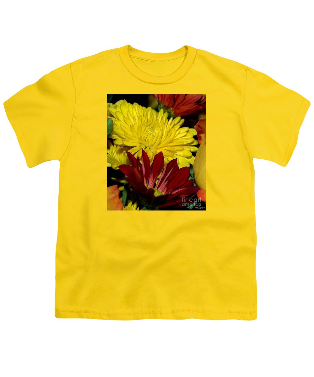 Chrysanthemum Photography Youth T-Shirt featuring the photograph Autumn Colors by Patricia Griffin Brett