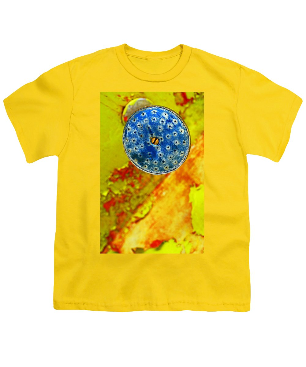 Shadow Youth T-Shirt featuring the photograph Blue Shower Head by Skip Hunt