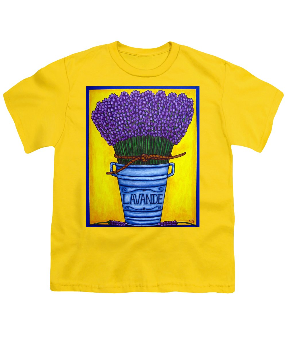 Antique Youth T-Shirt featuring the painting Colours Of Provence by Lisa Lorenz