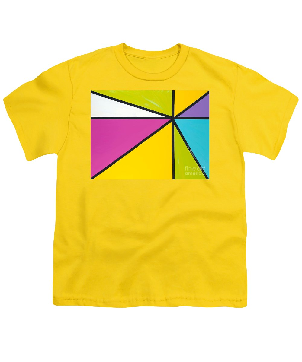 Lines Youth T-Shirt featuring the painting Convergence by Nadine Rippelmeyer
