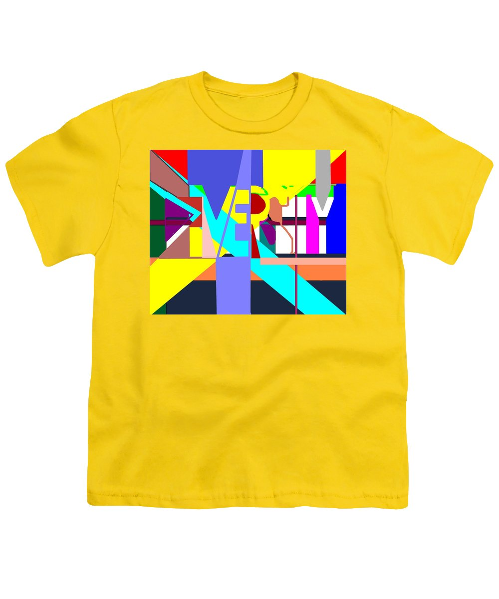 Diversity Youth T-Shirt featuring the digital art Diversity Enmeshed by Pharris Art