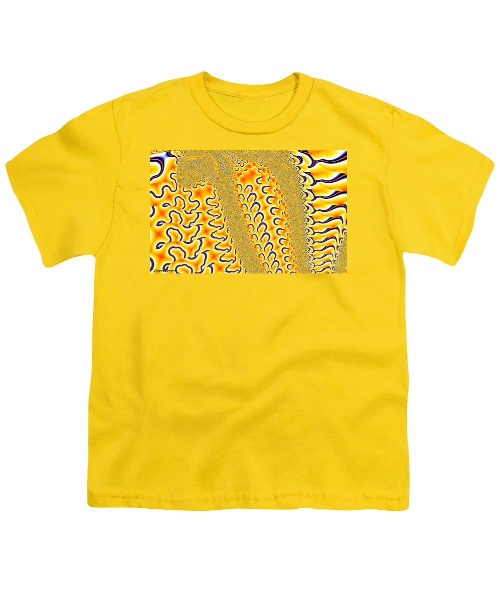 Clay Youth T-Shirt featuring the digital art Flux by Clayton Bruster