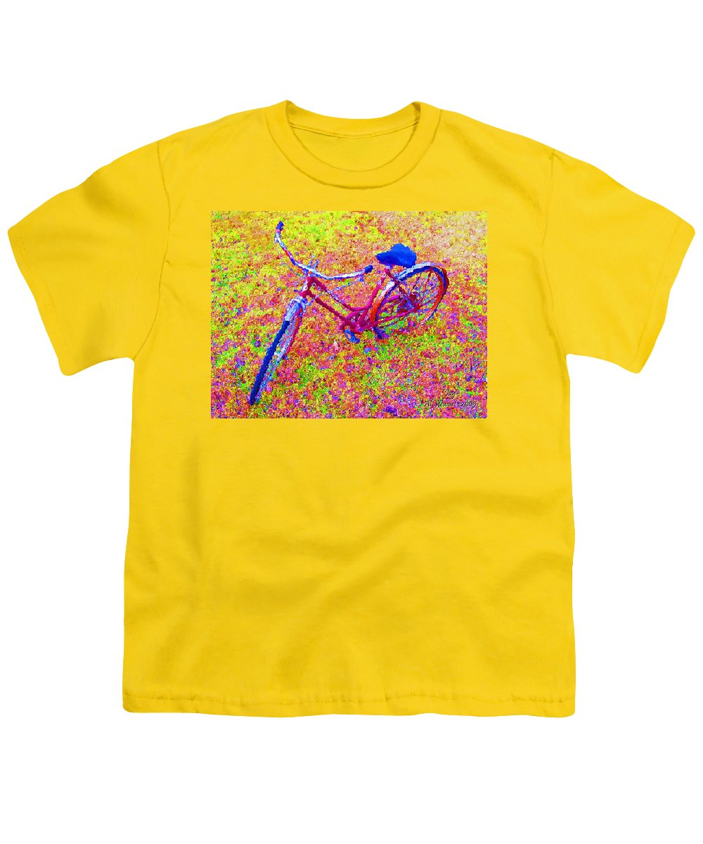 Bike Youth T-Shirt featuring the photograph Joy, The Bike Ride by Albert Stewart
