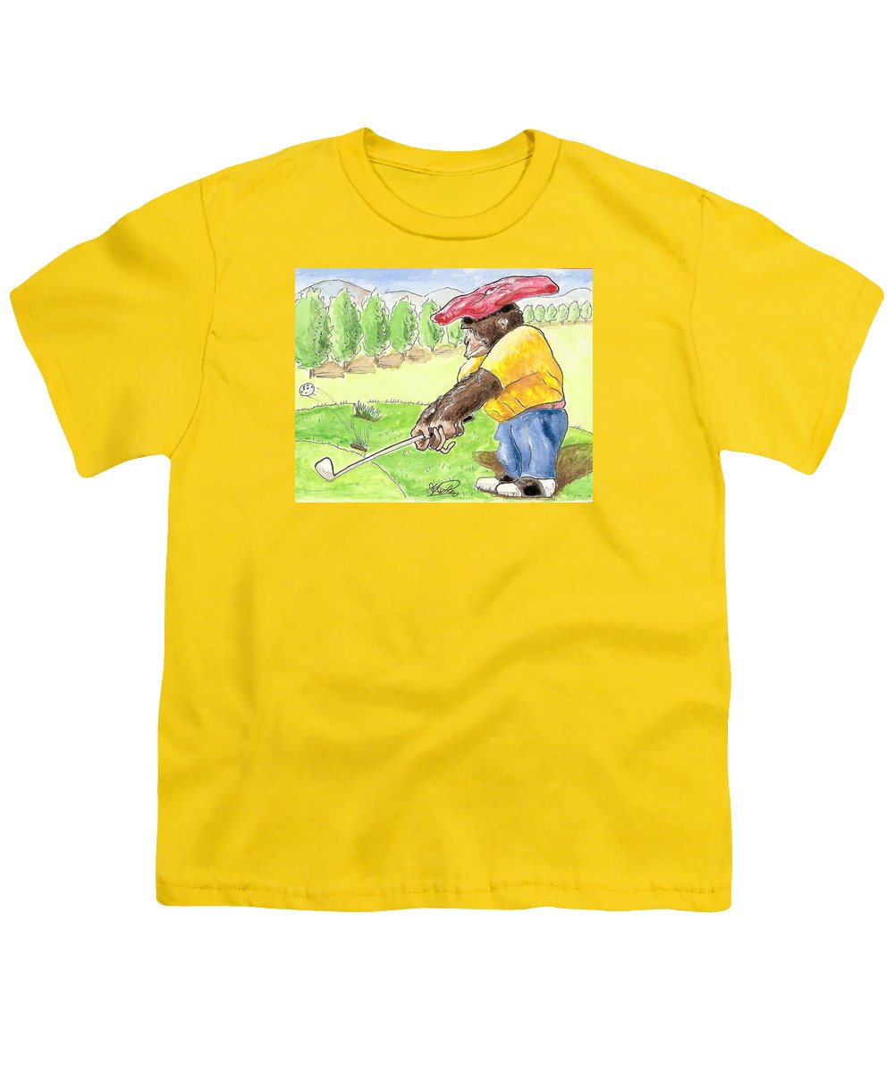 Golf Youth T-Shirt featuring the painting Oops by George I Perez