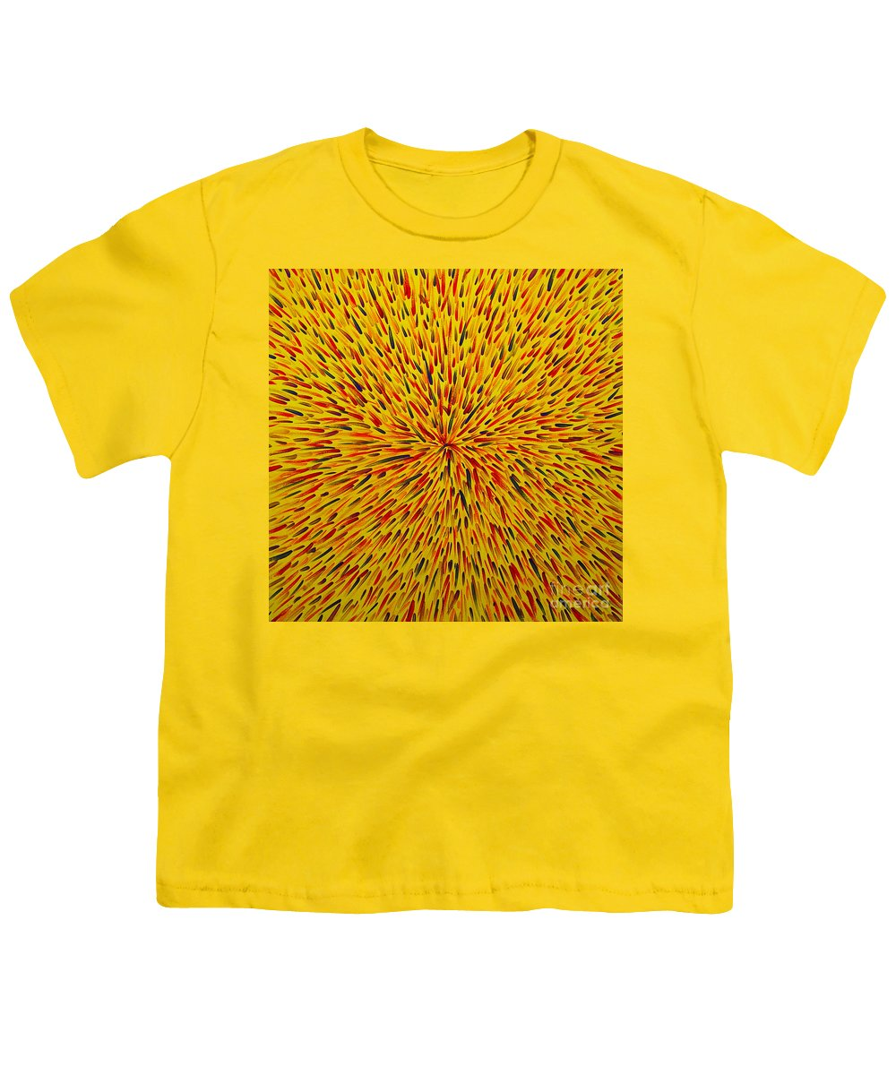 Abstract Youth T-Shirt featuring the painting Radiation Yellow by Dean Triolo