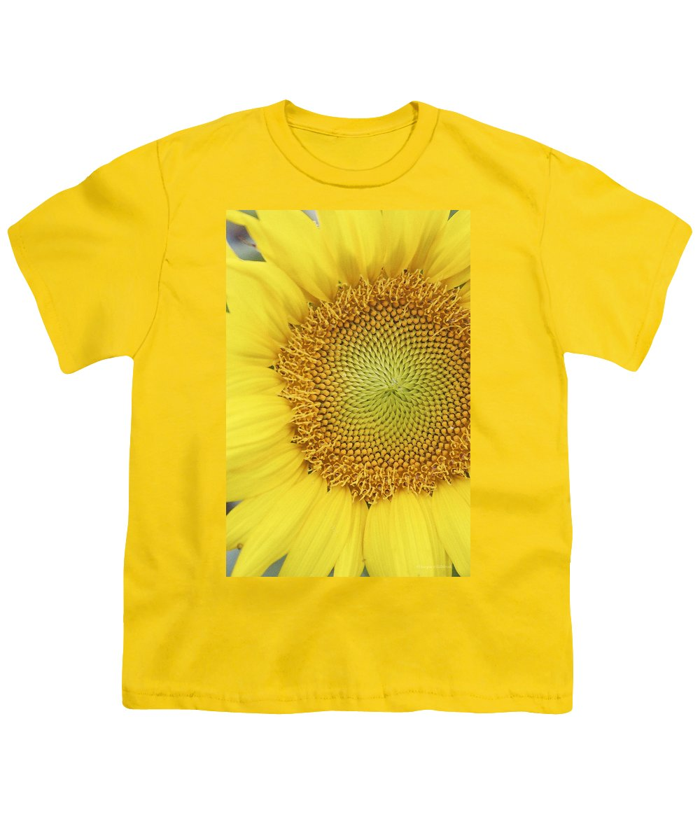 Sunflower Youth T-Shirt featuring the photograph Sunflower by Margie Wildblood