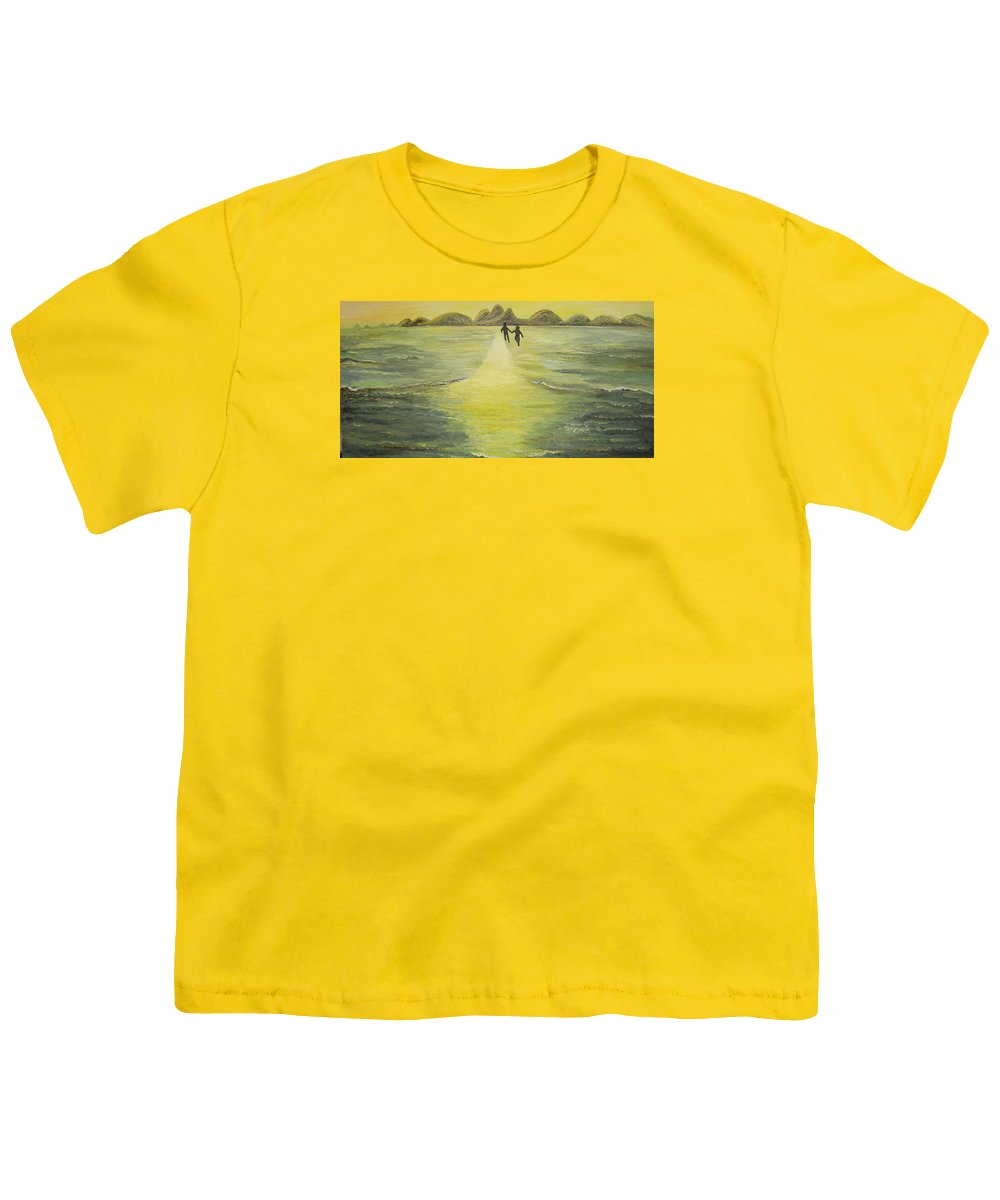 Soul Youth T-Shirt featuring the painting The Road In The Ocean Of Light by Karina Ishkhanova