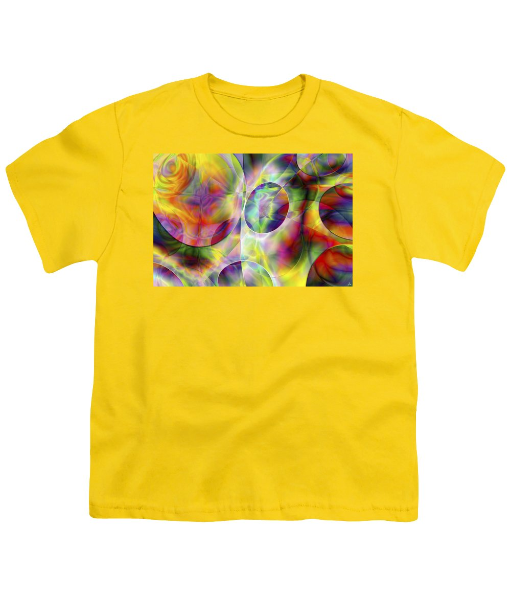 Colors Youth T-Shirt featuring the digital art Vision 36 by Jacques Raffin