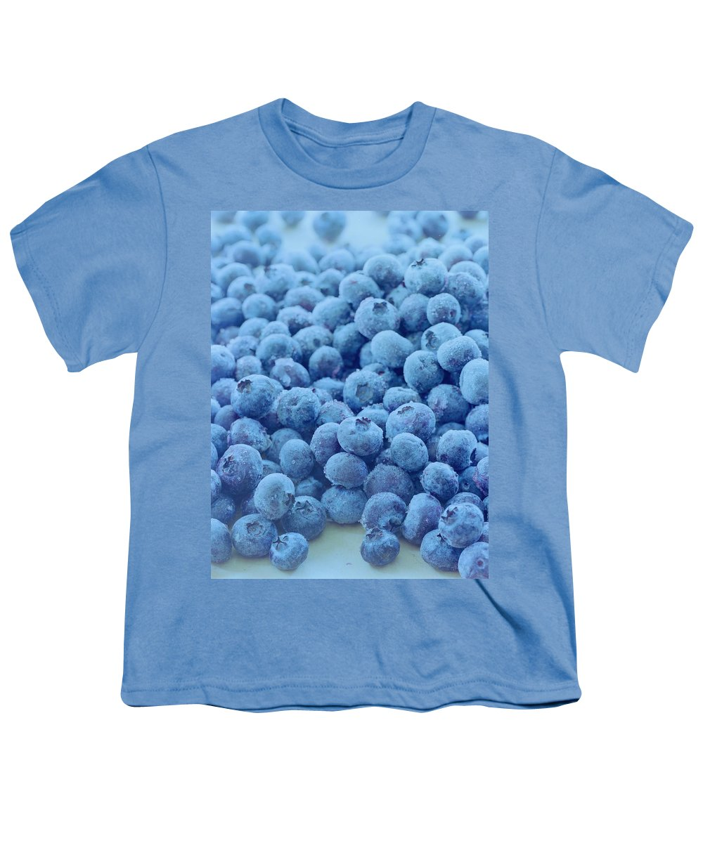 Berries Youth T-Shirt featuring the photograph Blueberries by Romulo Yanes