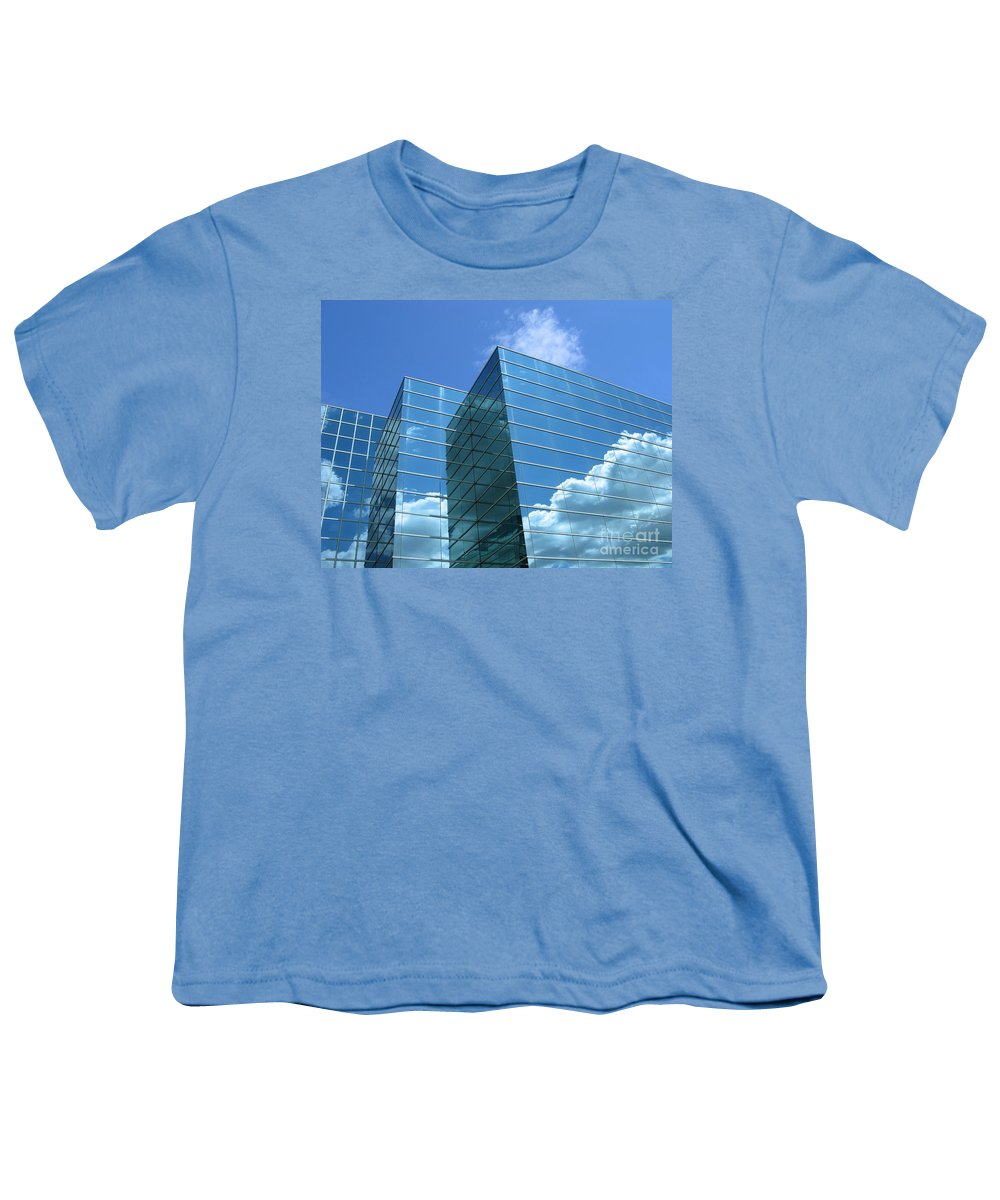 Building Youth T-Shirt featuring the photograph Cloud Mirror by Ann Horn