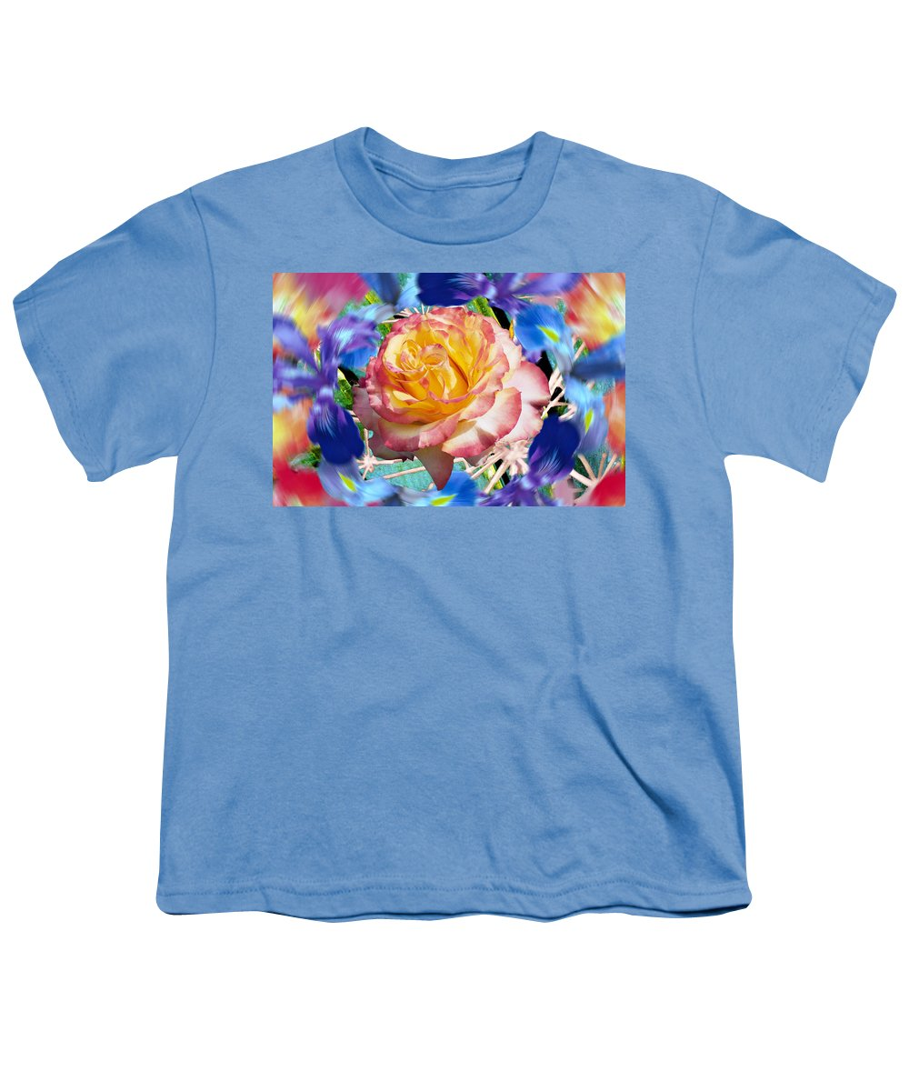 Flowers Youth T-Shirt featuring the digital art Flower Dance 2 by Lisa Yount
