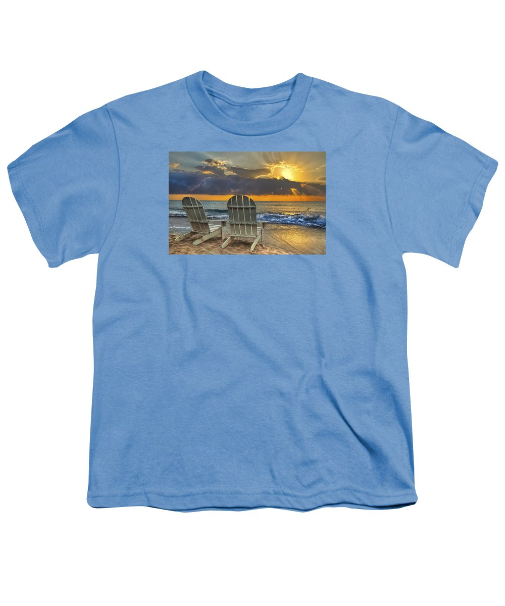 Zen Youth T-Shirt featuring the photograph In The Spotlight by Debra and Dave Vanderlaan