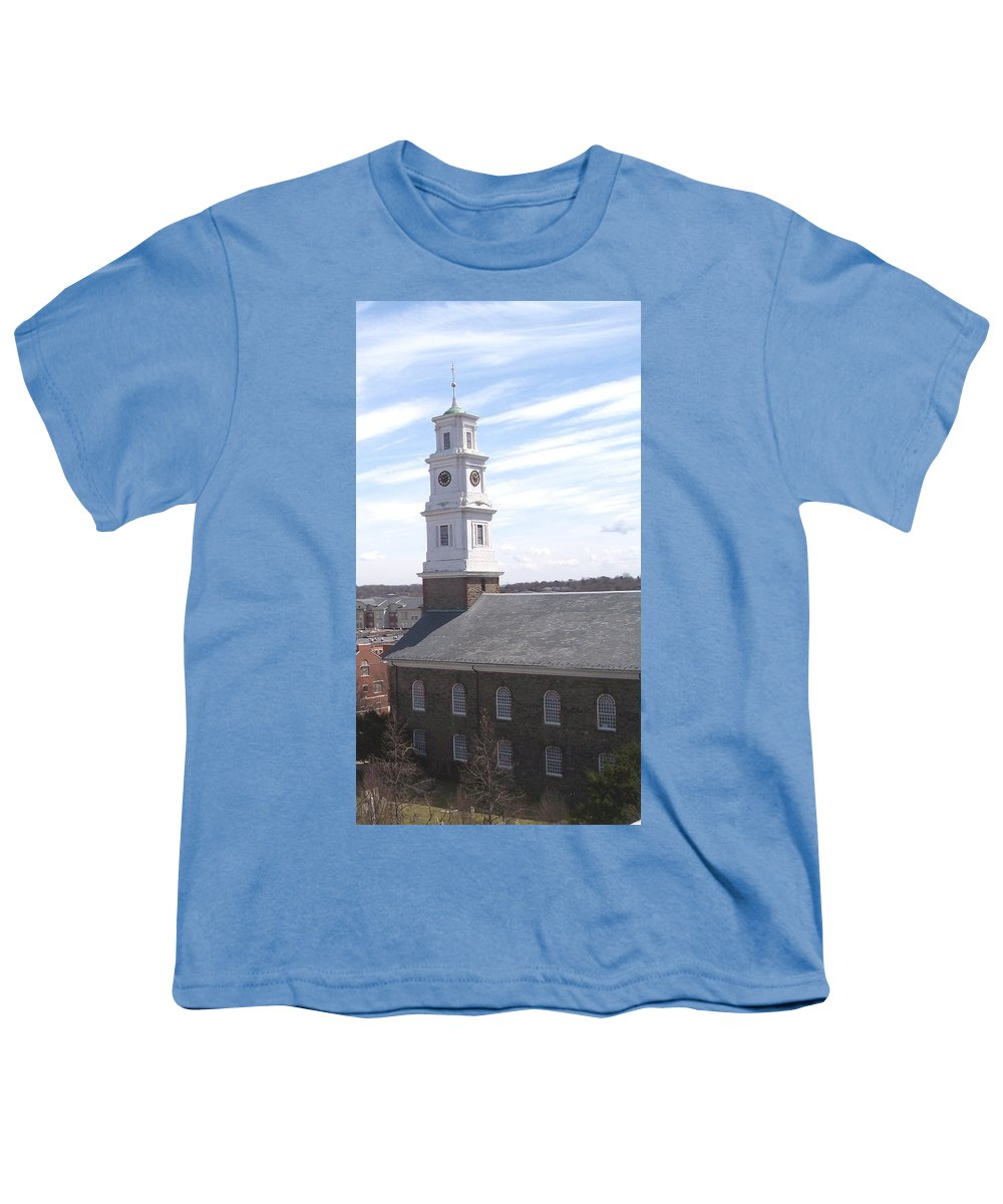 Architecture Youth T-Shirt featuring the photograph Into The Blue by Pharris Art