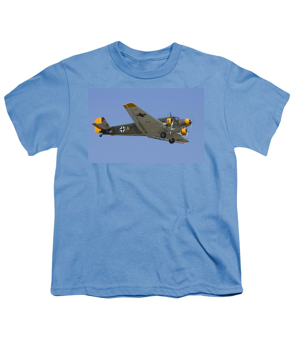 3scape Photos Youth T-Shirt featuring the photograph Junkers Ju-52 by Adam Romanowicz