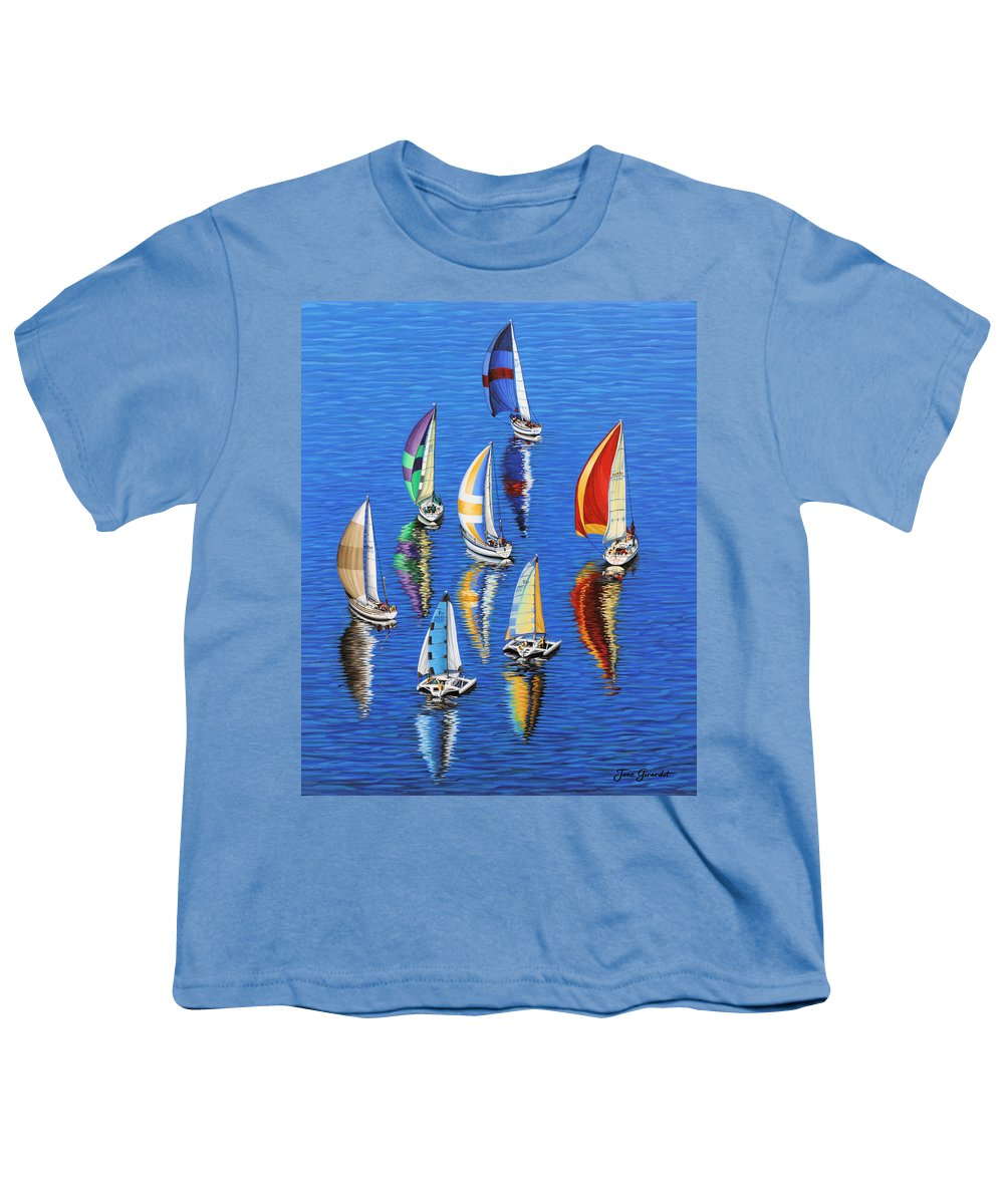 Ocean Youth T-Shirt featuring the painting Morning Reflections by Jane Girardot