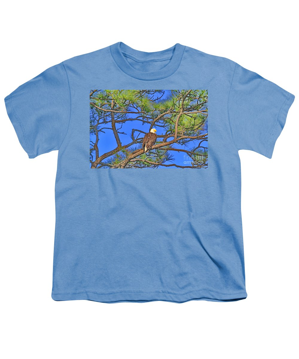 Bald Eagle Youth T-Shirt featuring the photograph Taking A Nest Break by Deborah Benoit