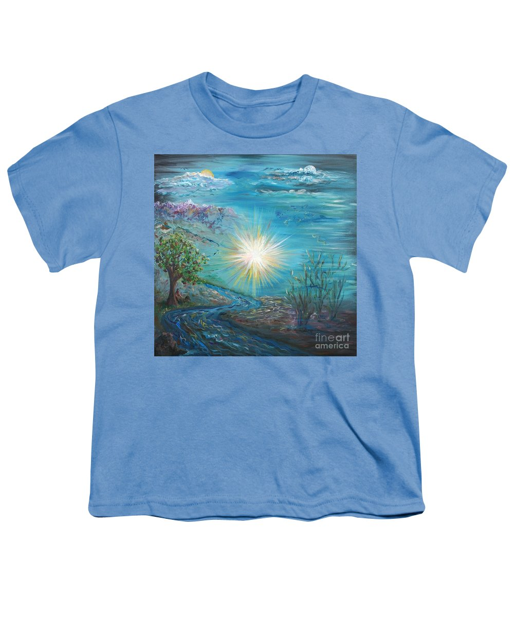 Creation Youth T-Shirt featuring the painting Creation by Nadine Rippelmeyer