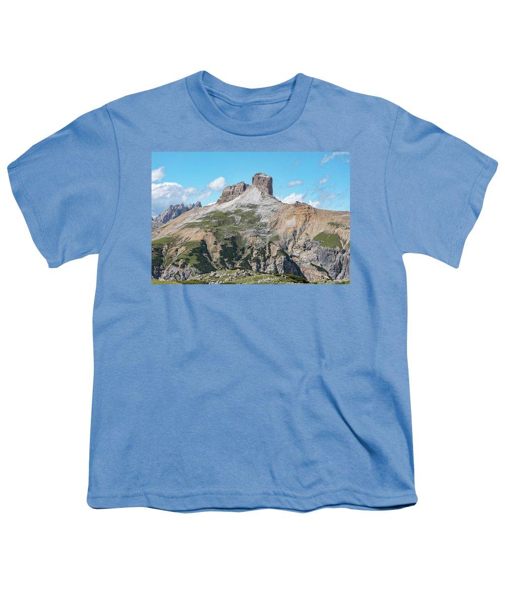 Torre Dei Scarperi Youth T-Shirt featuring the photograph torre dei scarperi - Dolomiti 1 by Joana Kruse