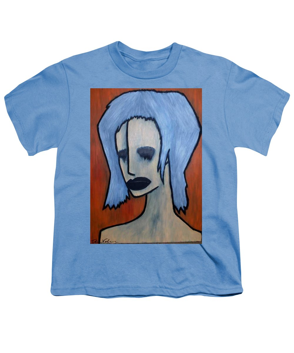 Potrait Youth T-Shirt featuring the painting Halloween by Thomas Valentine