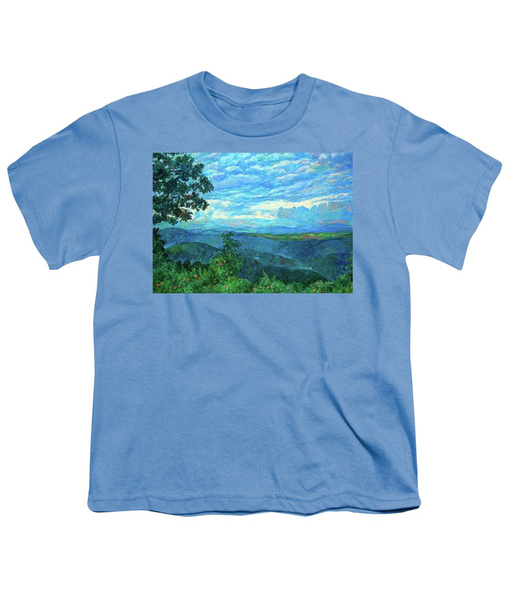 Mountains Youth T-Shirt featuring the painting A Break In The Clouds by Kendall Kessler