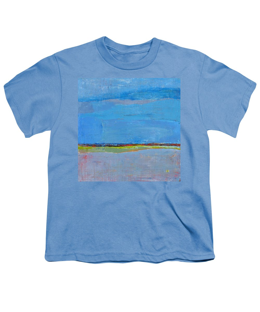 Youth T-Shirt featuring the painting Abstract Landscape1 by Habib Ayat
