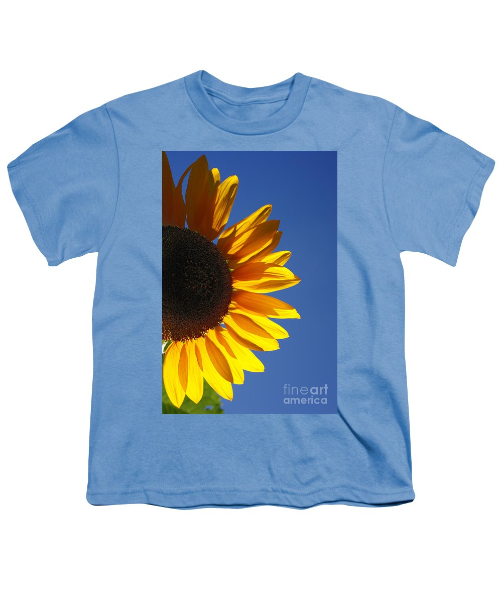 Back Light Youth T-Shirt featuring the photograph Backlit Sunflower by Gaspar Avila