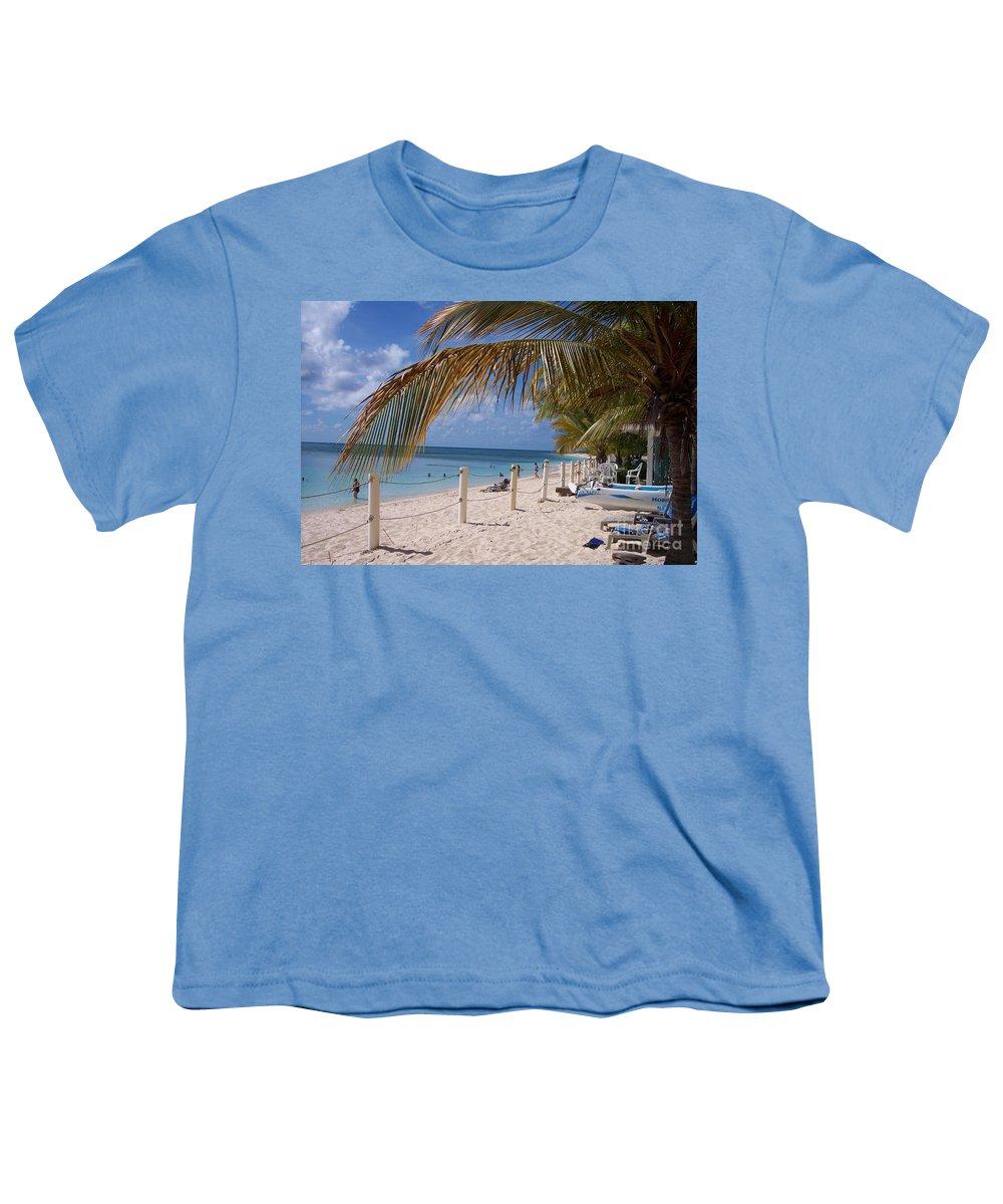 Beach Youth T-Shirt featuring the photograph Beach Grand Turk by Debbi Granruth