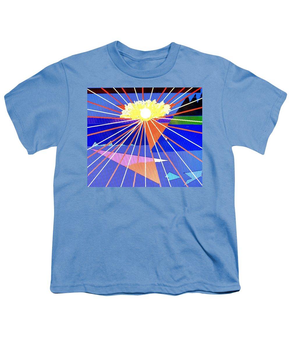 Sunset Youth T-Shirt featuring the digital art Bermuda Sunset by Ian MacDonald