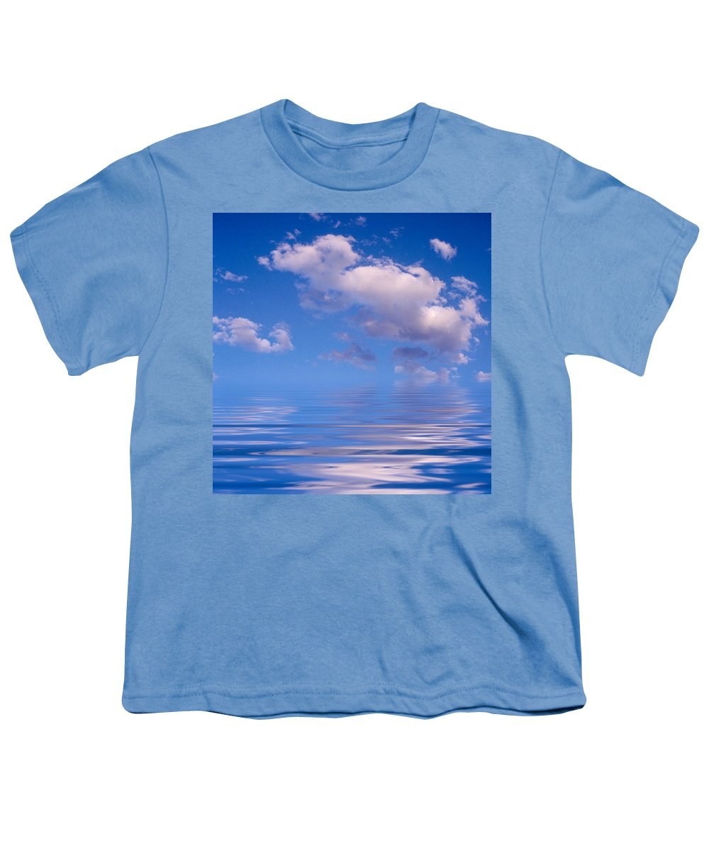 Original Art Youth T-Shirt featuring the photograph Blue Sky Reflections by Jerry McElroy